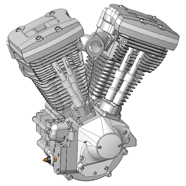 310003 Knucklehead 3d Cad Model