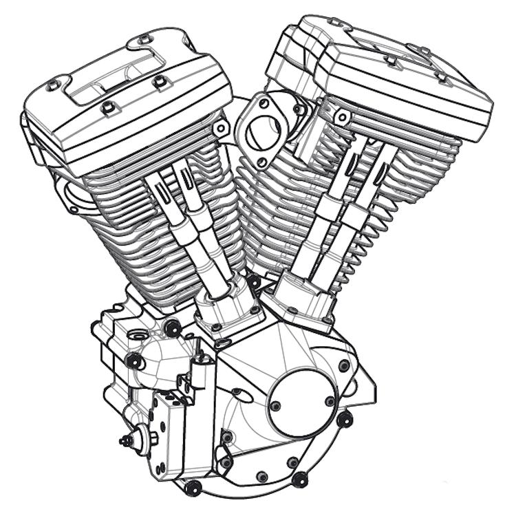 quality design 06aac 88d35 310004 shovelhead 3d cad model heddat Harley -Davidson FLH Shovelhead