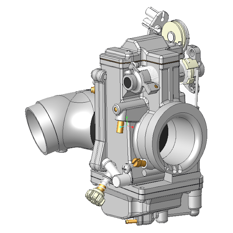 310024 Mikuni Hsr42 Carb 3d Cad Model Dbbp Shop: cad models