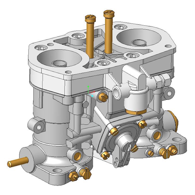 310025 weber idf 40 carb 3d cad model dbbp shop Cad models