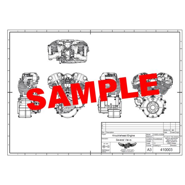 X on Knucklehead Engine Drawings